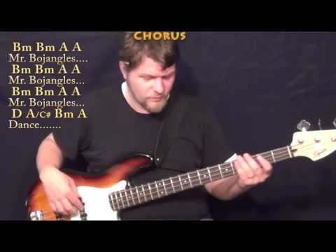 Mr Bojangles (Jerry Jeff Walker) Bass Guitar Cover Lesson in D with Chords/Lyrics
