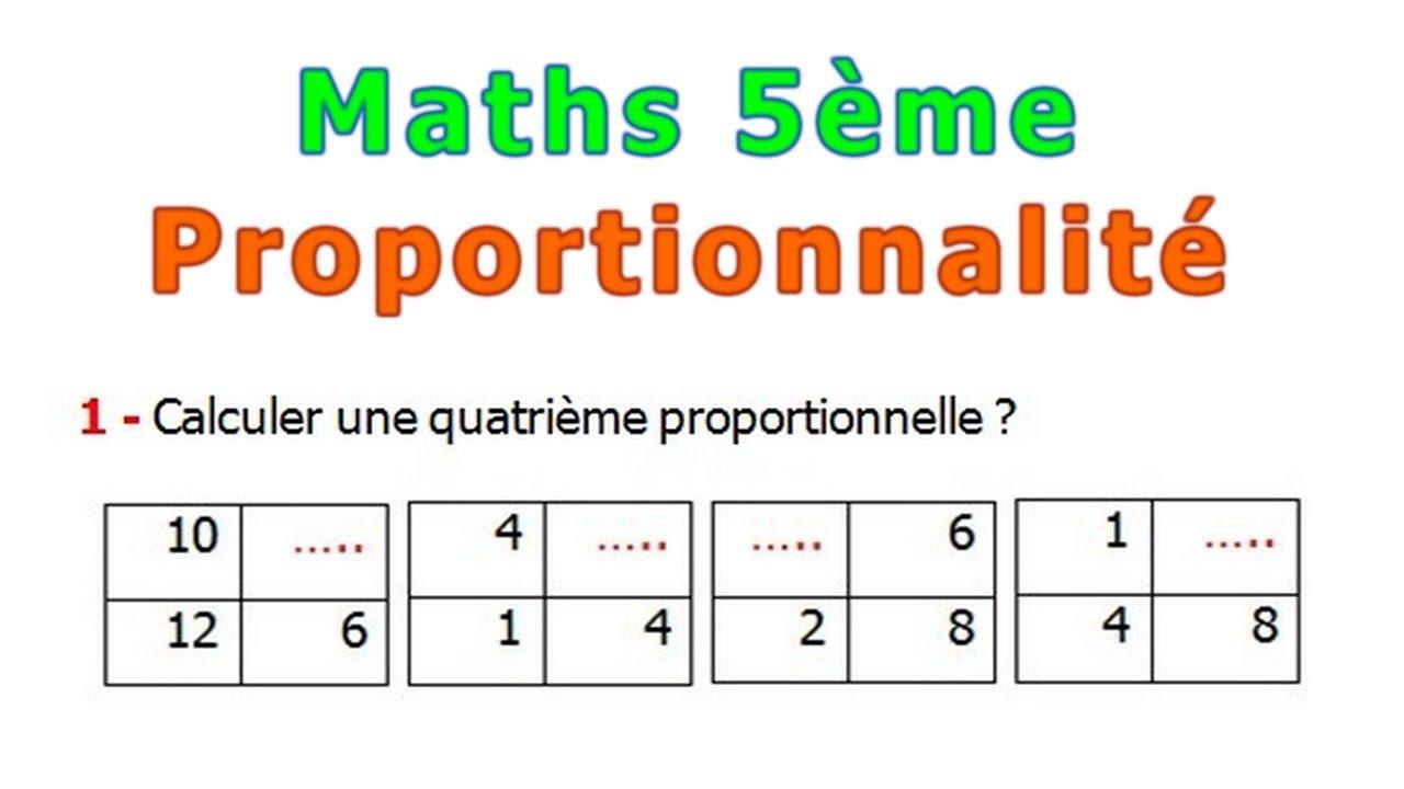 Maths 5eme La Proportionnalite Exercice 1 Youtube
