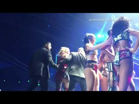 Man storms onto the stage of Britney Spears concert