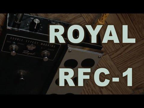 Royal RFC 1 Double Effect Machine Fuzz Wah guitar pedal