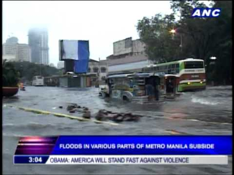 Floods in parts of Metro Manila subside