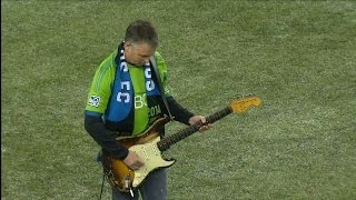 Mike McCready performs the Star Spangled Banner