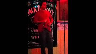 Steve singing Sister Golden Hair at karaoke