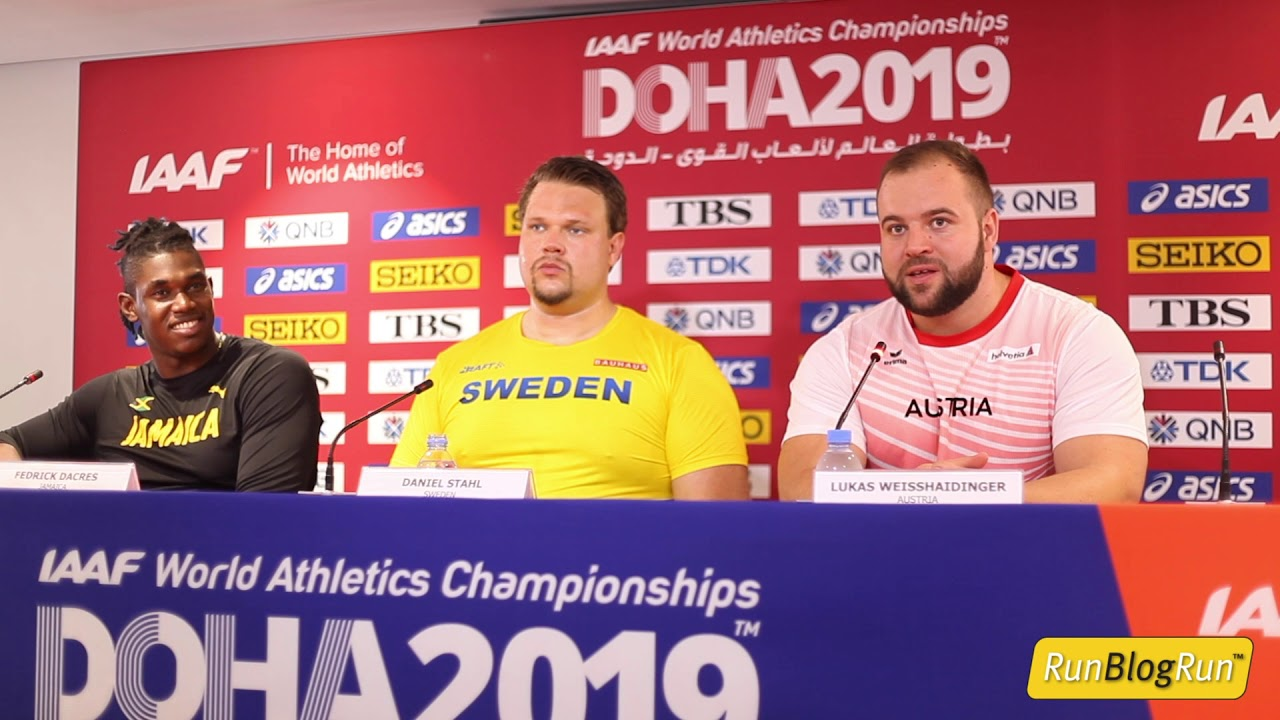Doha WC 2019 - Men's Discus Throw Final Press Conference