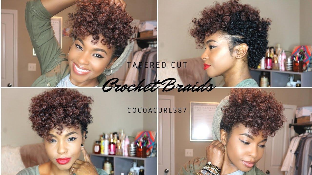 Crochet Braid Tapered Cut Tutorial Youtube