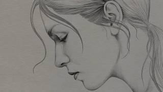 Sad Girl Drawing | Time Lapse