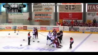 hc sparta praha vs adler manheim line brawl 16 8 2015