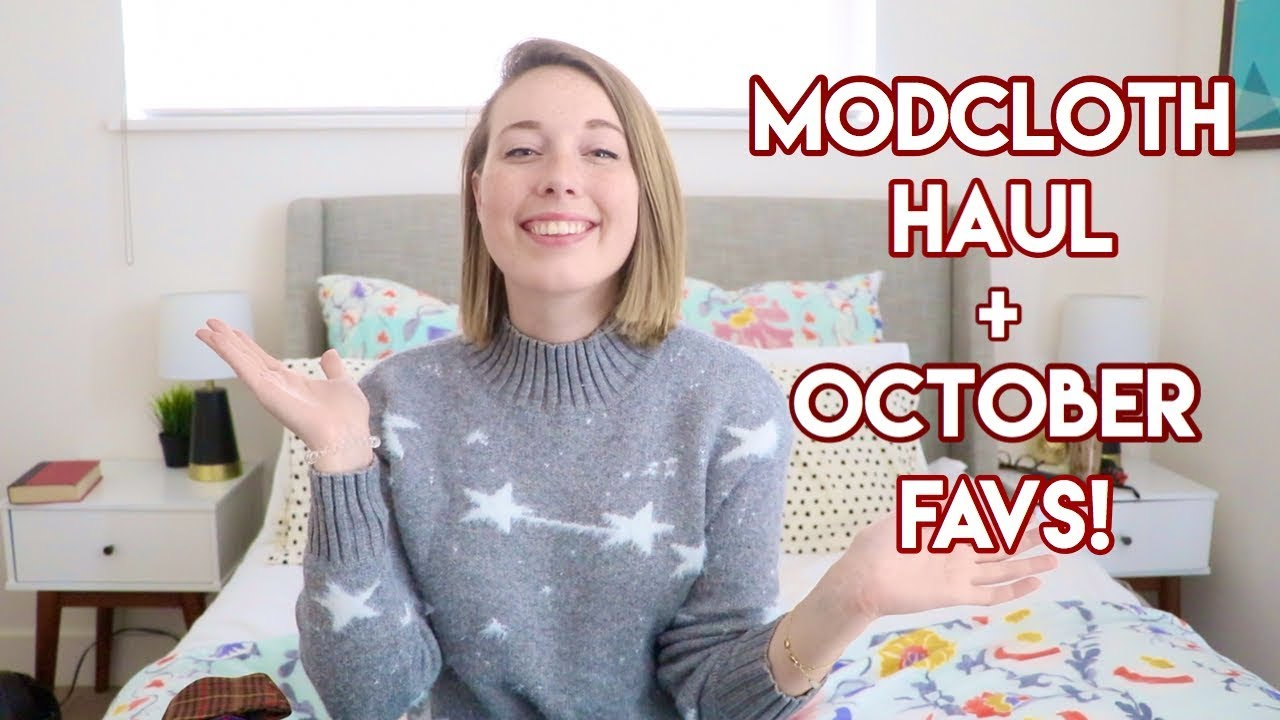 cb57095e2a ModCloth Haul + October Favorites - YouTube