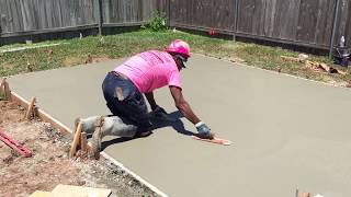 Best How To Hand Trowel Concrete Shop Foundation Pad--iConcrete Construction Breast Cancer Awareness