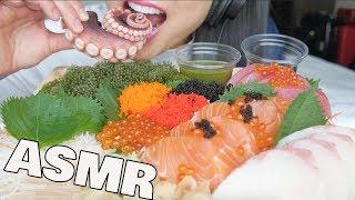 ASMR *BEST SUSHI PLATTER (Salmon Hamachi Octopus Seagrapes) EATING SOUNDS NO TALKING | SAS-ASMR