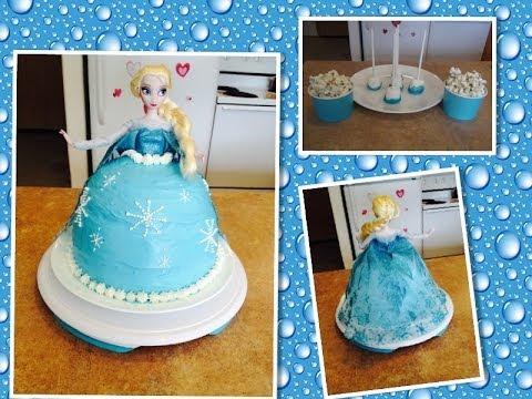 Bolo Elsa - Filme Frozen e sugestões de docinhos pra festa.