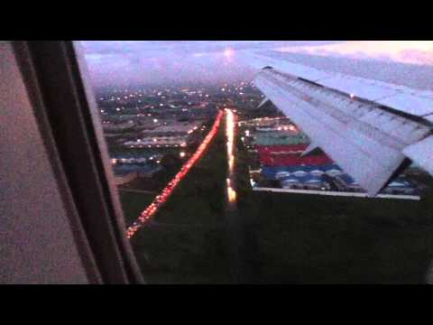 Kenyan Airways  Early Morning Landing at Nairobi