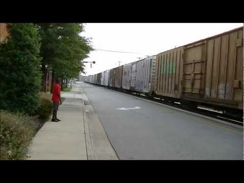 Two Trains Within Seconds in Downtown Fayetteville, NC