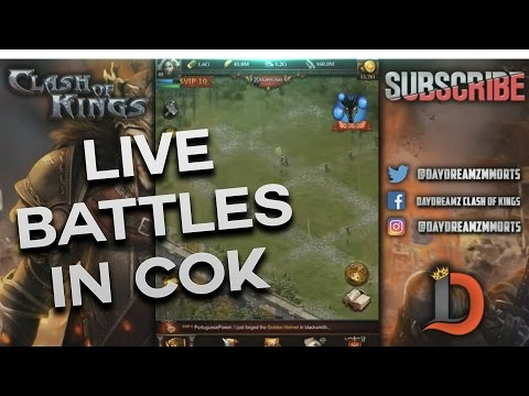 CASTLE EXPANSION - REAL LIVE BATTLES IN CLASH OF KINGS