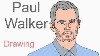 Paul Walker - Draw Paul Walker from Fast & Furious