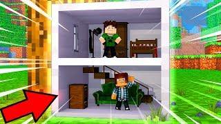 CASA DENTRO DO BLOCO DE FERRO !!! - Minecraft Clones #8