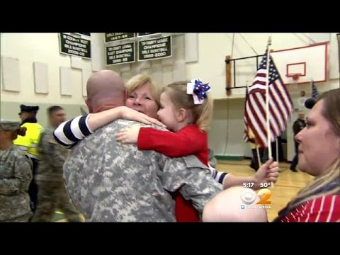 Massachusetts Soldiers Return Home For The Holidays