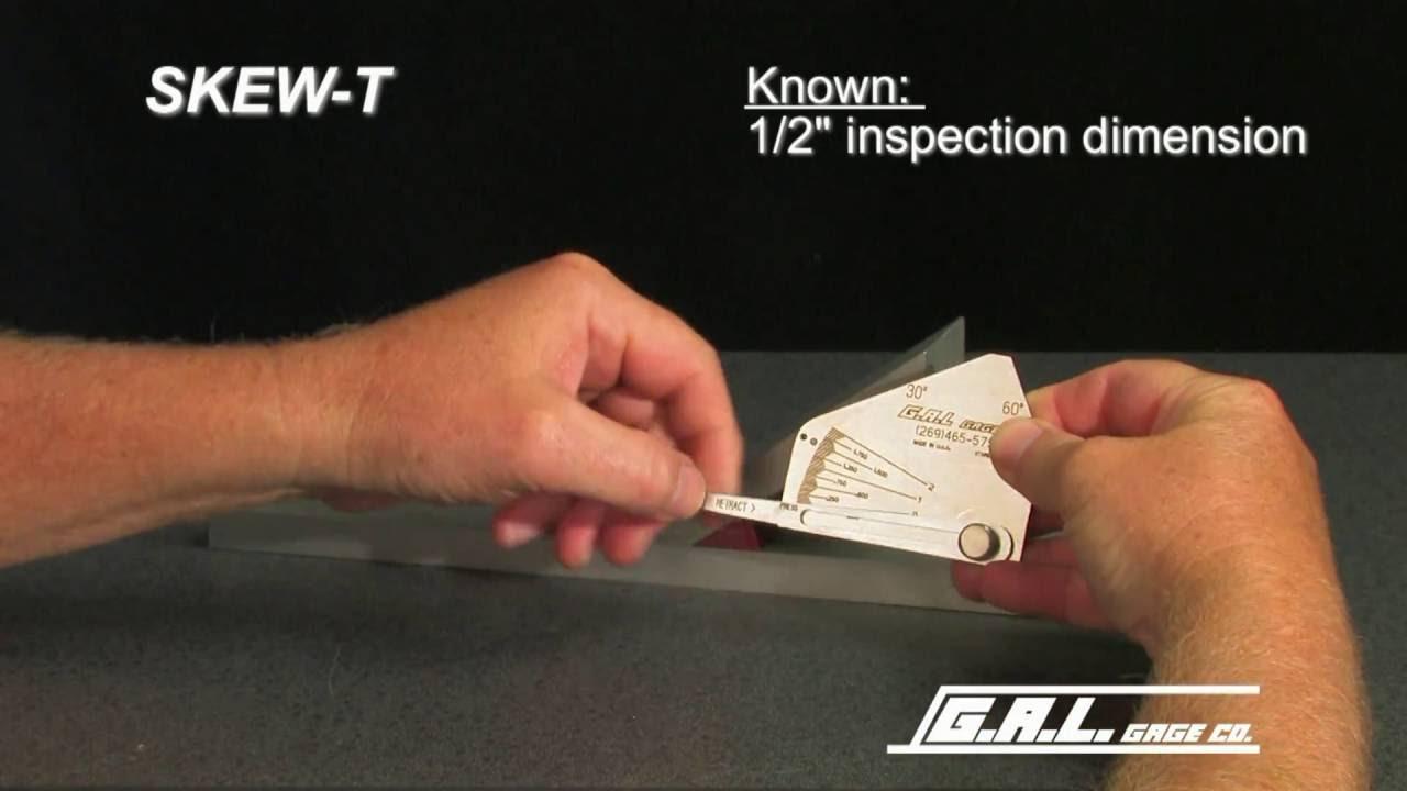 The Skew-T Fillet Weld Gauge by GAL GAGE Company