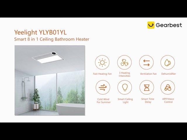 Yeelight Ylyb01yl Smart 8 In 1 Ceiling Bathroom Heater With Adjule Light