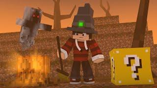 Minecraft - HALLOWEEN ATRASADO ‹ ESCOLHA A PORTA › MINI-GAME (LUCKY BLOCK)
