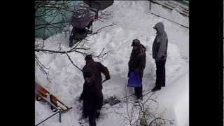 Киев замело снегом. Весна так и не пришла...
