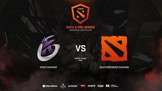 Keen Gaming vs DeathBringer Gaming, CEG Dota 2 Pro Series CN Qualifier, bo3, game 1 [Mila]