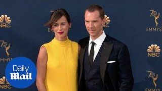 Benedict Cumberbatch & Sophie Hunter arrive at the 2018 Emmys