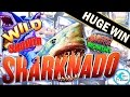 HUGE WIN *NEW SLOT* SHARKNADO Slot Machine Amazing Bonus w/Retriggers!