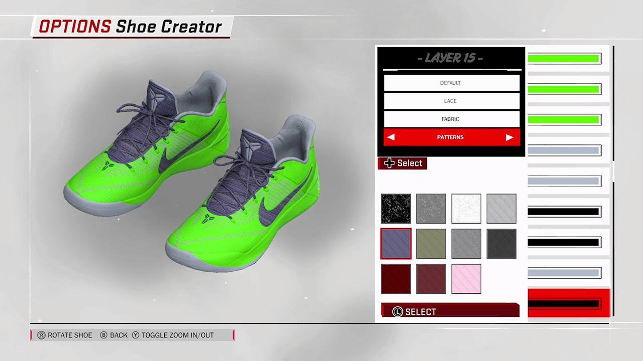 NBA 2K18 Shoe Creator - Nike Kobe AD Custom