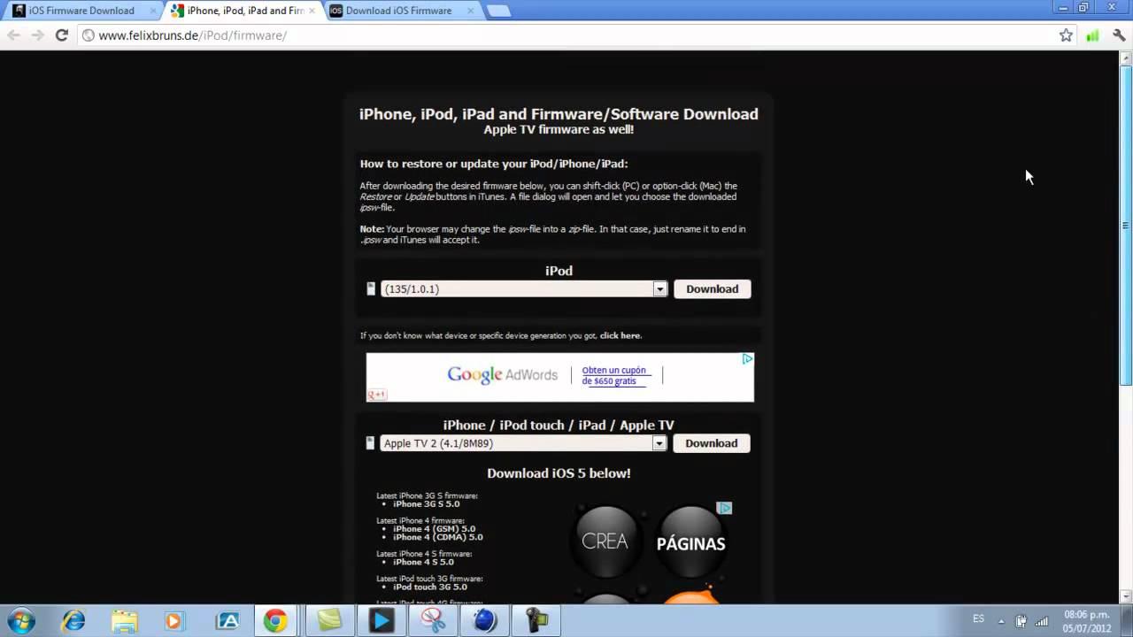 iphone 5 neueste firmware