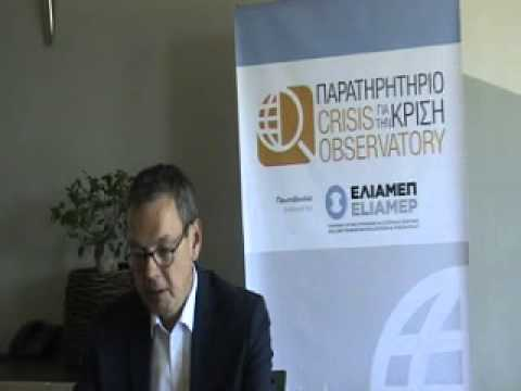 Interview of Professor Dr. Peter Bofinger, to the Crisis Observatory