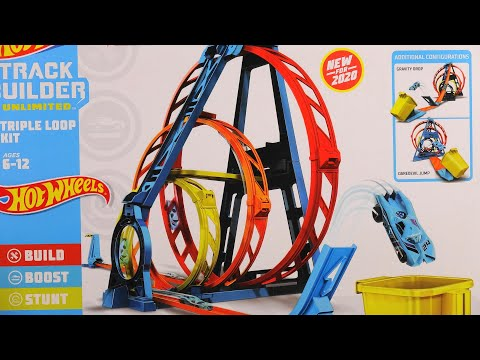 New 2020 Hot Wheels Conquer The Giant Triple Loop Track Builder Unlimited