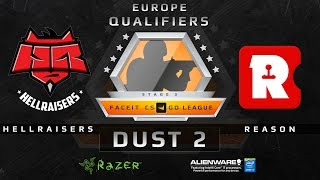 HellRaisers vs Reason Gaming - Map 3 - Dust 2 (FACEIT 2015 League EU Qualifiers)