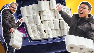 We gave away all this toilet paper!!!