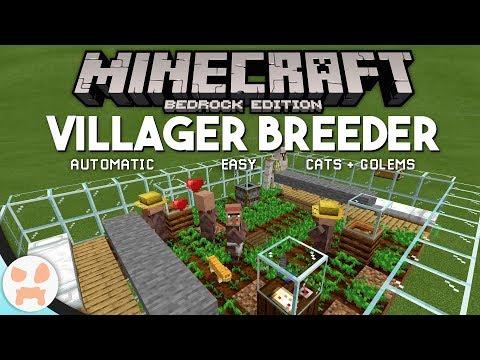 Minecraft Bedrock VILLAGER BREEDER TUTORIAL! | Easy, Automatic
