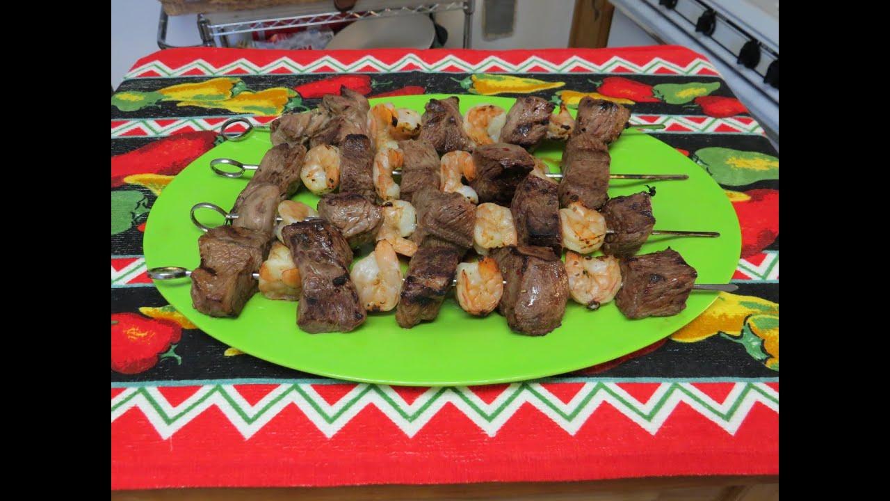 recipe: easy steak and shrimp kabobs [3]