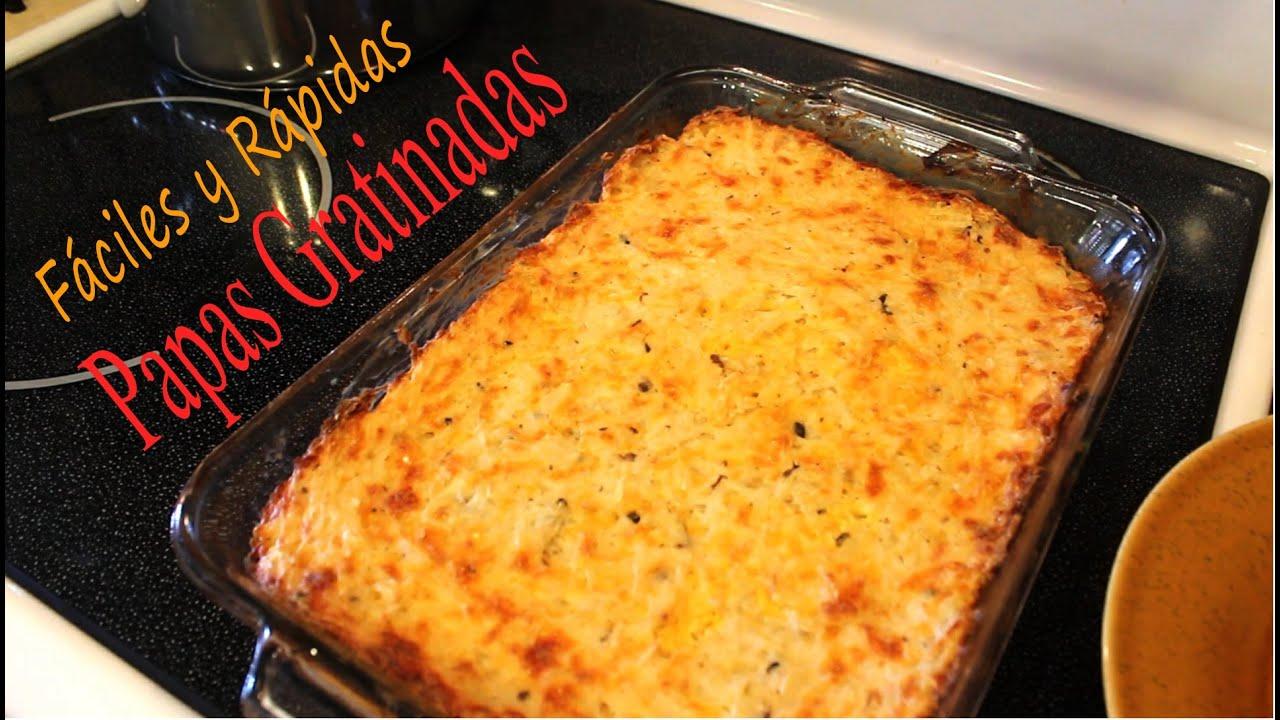 Cocina papas gratinadas al horno super facil youtube - Videos de cocina facil ...