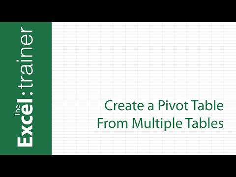 Excel 2013/2016: Create a Pivot Table From Multiple Tables