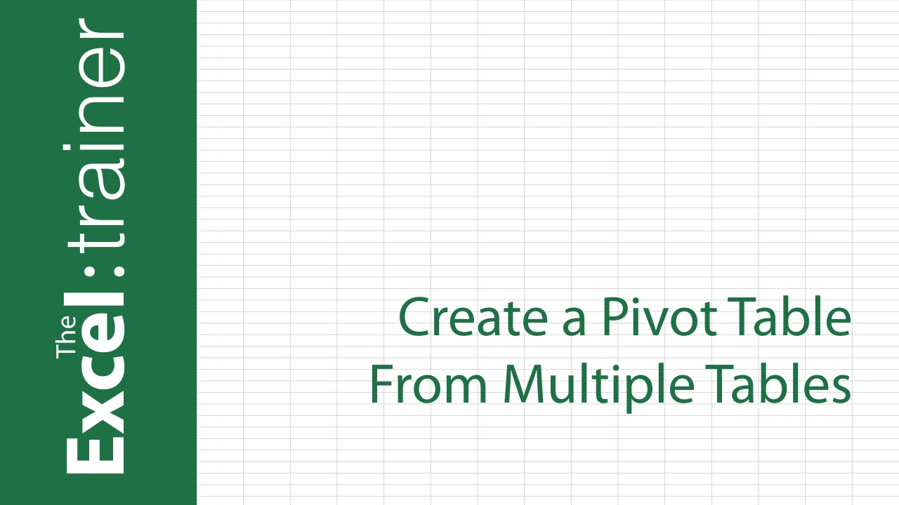 Excel 20132016 Create a Pivot Table From Multiple Tables YouTube – Create Pivot Table from Multiple Worksheets