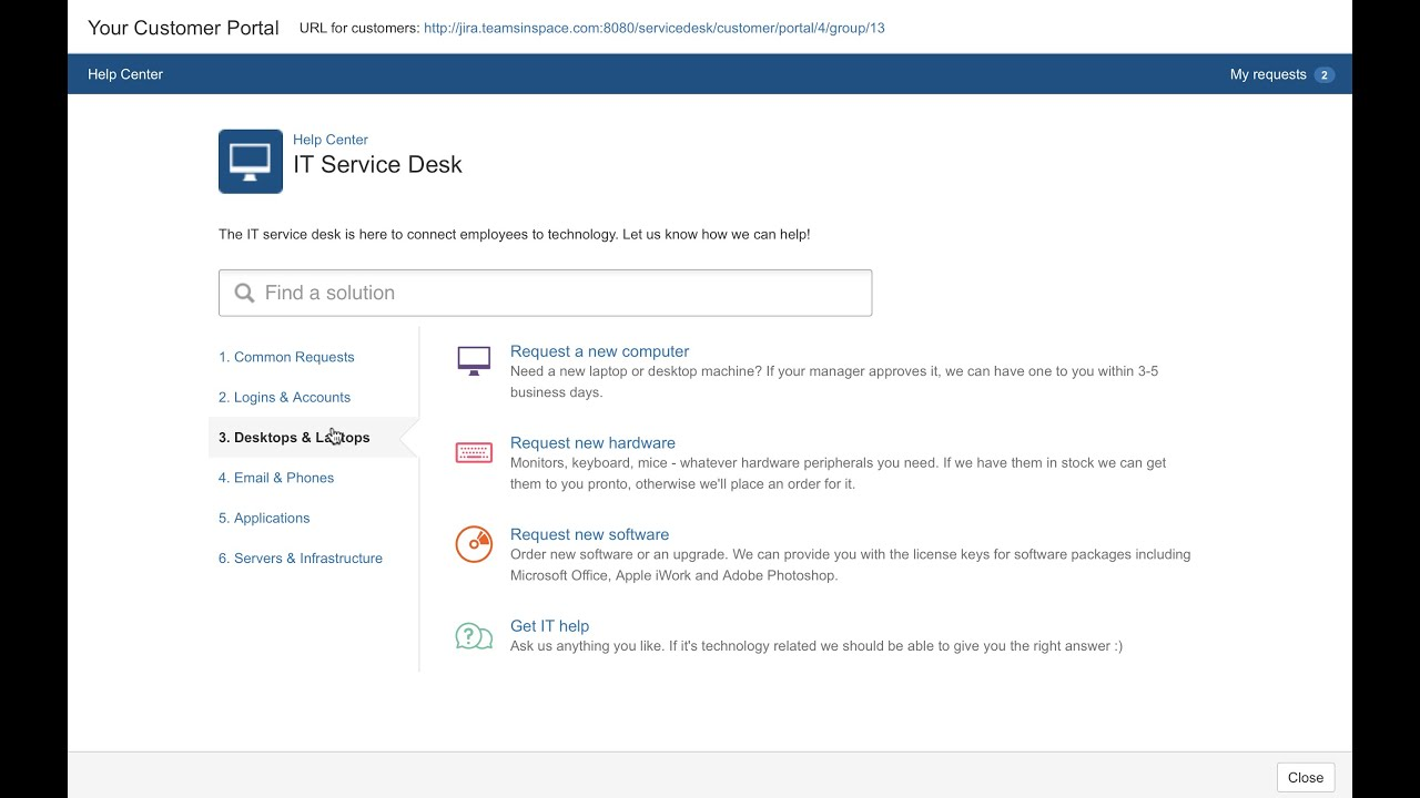 Introduction To JIRA Service Desk   YouTube