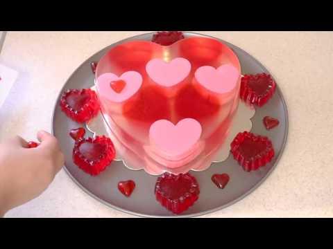 Hermosa Gelatina de corazones para el 14 de Febrero