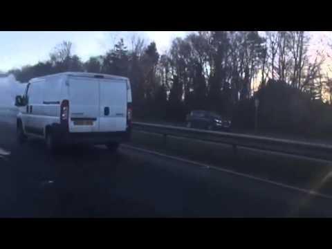 A483 Car Fire - Wrexham.com
