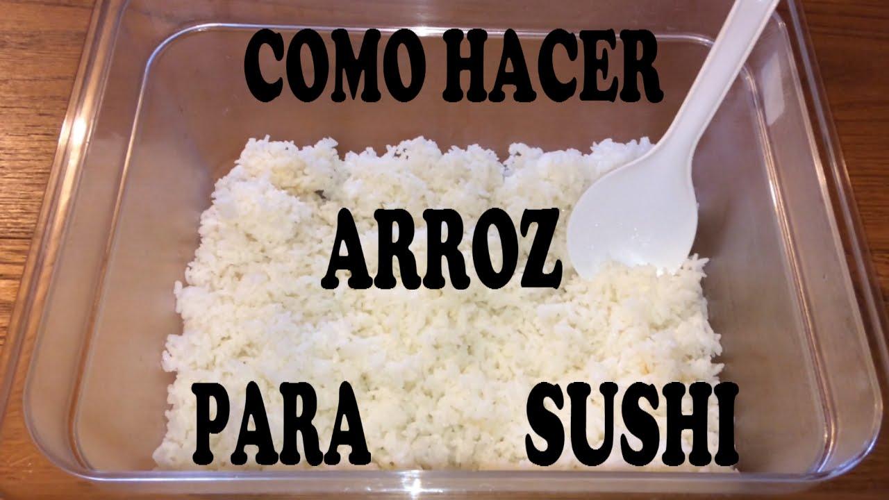 Como hacer arroz para sushi how to make sushi rice for Como hacer arroz para sushi