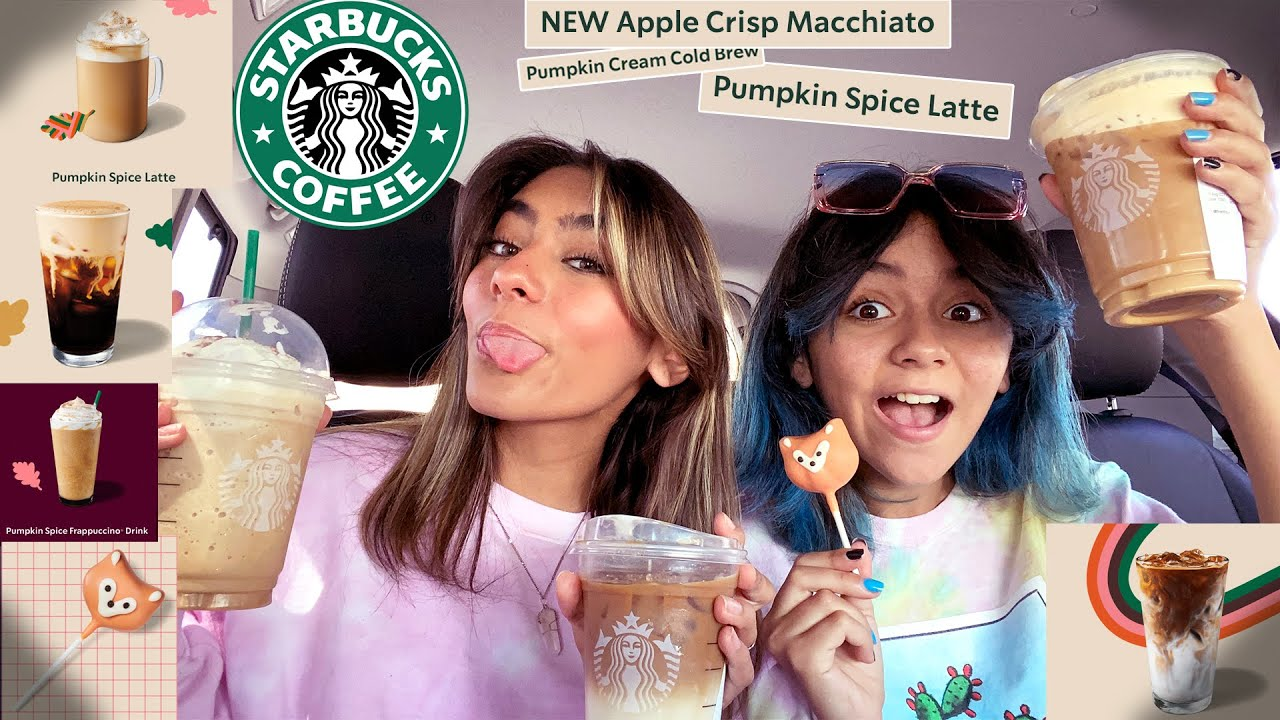 trying all the new fall Starbucks drinks | Mercedes and Evangeline