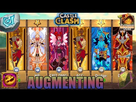 OBTAINING TON OF HEROES & AUGMENTING; EQUIPMENTS - CASTLE CLASH