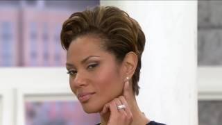 Diamonique Simulated Diamond Stud Earrings, Platinum Clad on QVC