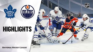 Maple Leafs @ Oilers 3/3/21 | NHL Highlights