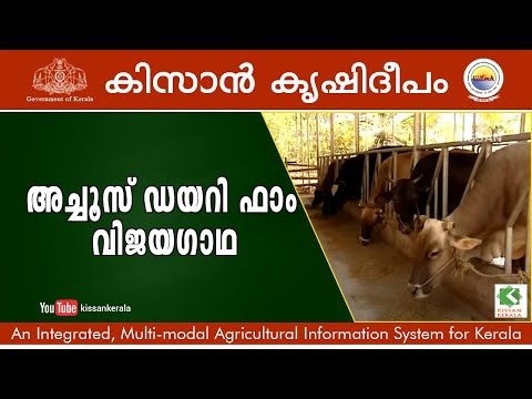 Success story of commercial  free store Diary Farming - Achus Diary Farm, Trivandrum