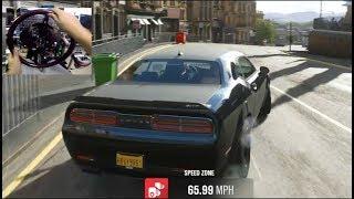 Forza Horizon 4 - Dodge Demon Skills Challenge! Can We Beat 200k?? (Thrustmaster Wheel)| SLAPTrain