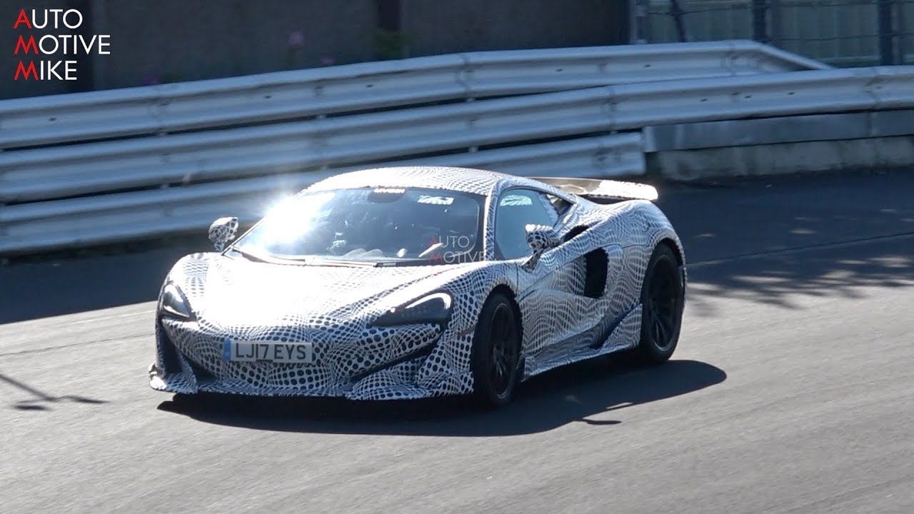 2019 Mclaren 600lt Spied Testing At The Nurburgring Youtube